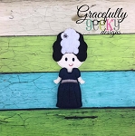 Franken Girl Dress up Doll - Embroidery Design 5x7 hoop or larger